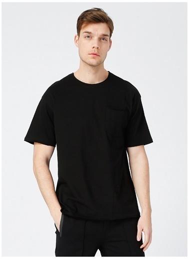 Black On Black Black On Black Erkek Siyah Bisiklet Yaka T-Shirt Siyah